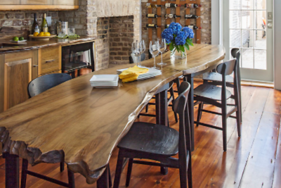 Rustic dining in Charleston