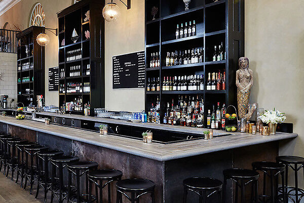 Get a drink at a historic Charleston Bank